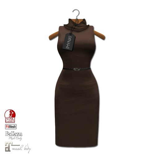 {MYNX} Cowl Neck Tank Dress - Brown