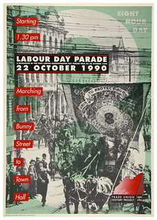 Poster celebrating 100 years of Labour Day Parades, 1990 | by Archives New Zealand