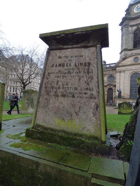 Samuel Lines memorial - St Philip's Cathedral - Temple Row West