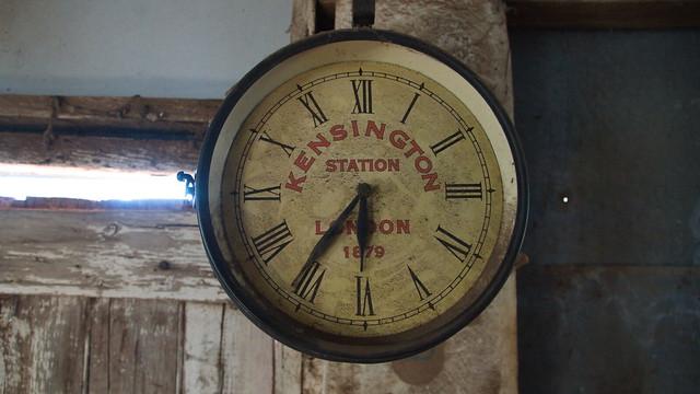 Clock in Kilmuir woolshed, Derrinal, Vic..