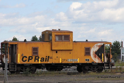 ontario canada canon railway caboose canadianpacific cp chapleau prout rollingstock mofw canoneos60d geraldwayneprout chapleaucanadianpacificrailwayyard cp422988 cp422988caboose