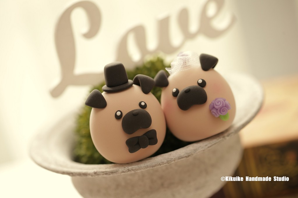 Pug And Chiwawa Chihuahua Wedding Cake Topper Www Etsy Co
