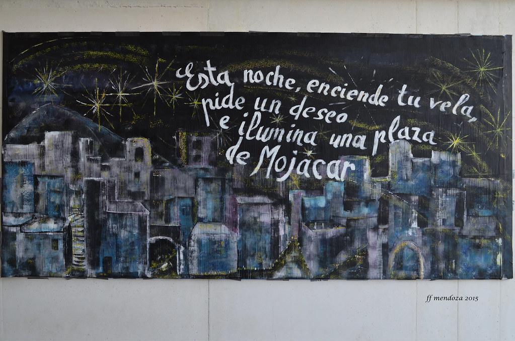 Mural Efimero Pintura Acrilica Sobre Carton Noche De Vel Flickr
