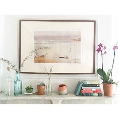 Feeling beachy in our dusty Brooklyn apartment. #homedecor #interiordesign #design #homeideas #succulent #decor #apartment #apartmentlife #eucalyptus #sydneybeaches #interiordecor