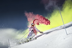 Marcel Hirscher performs during the project 'Marcel Hirscher Colours' at Reiteralm near Schladming, Austria on March 24th, 2015 // Philip Platzer/Red Bull Content Pool // P-20150331-00159 // Usage for editorial use only // Please go to www.redbullcontentpool.com for further information. //