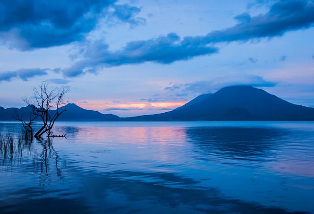Lake Atitlán on fire, Guatemala