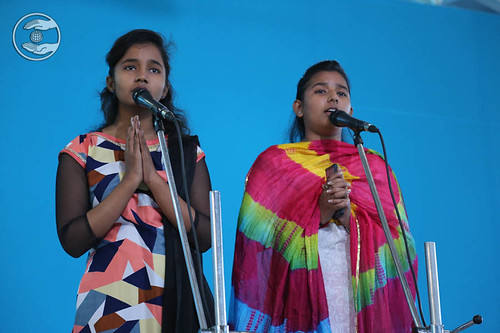 Devotional song by Navita and Ashita from Nand Nagri, Delhi