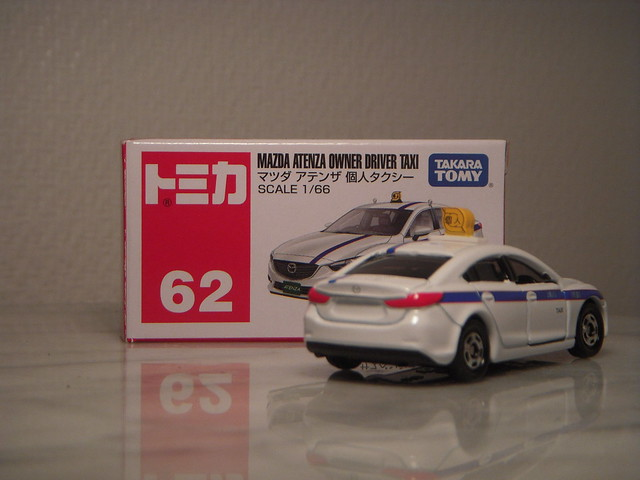 Mazda Atenza / 6 Owner Driver Taxi 1:66 Diecast by Tomica