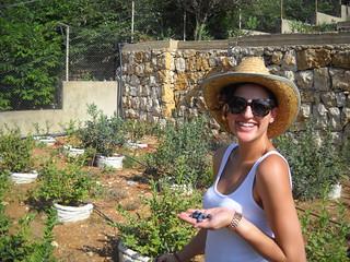 Hoda picking Berries e Aug 2, 2014 | by toutberryfarms