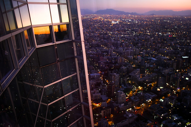 View from Costanera Tower   Santiago de Chile