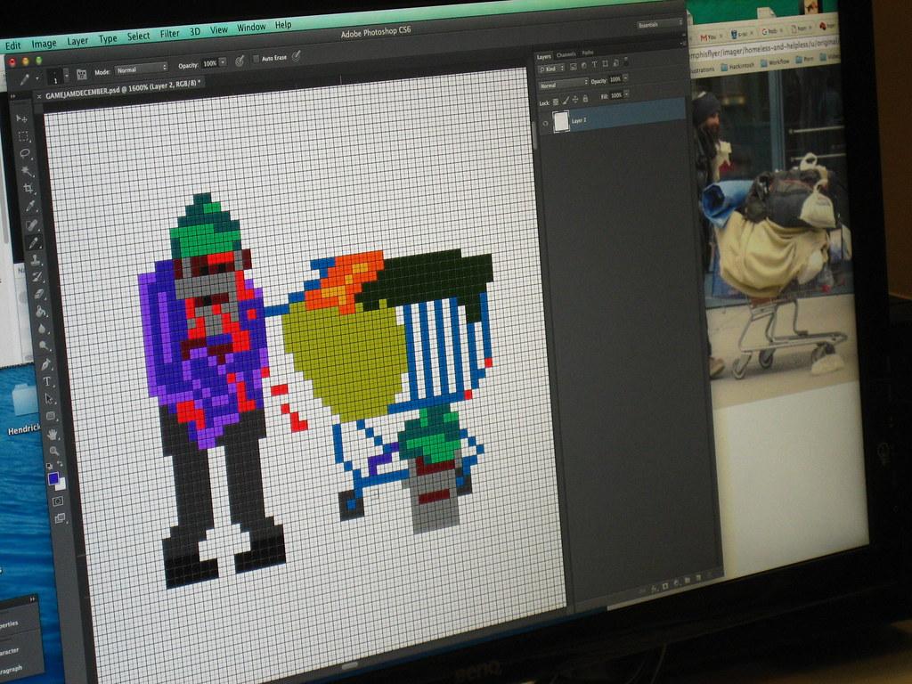 Homeless Pixel Art | www youtube com/playlist?list=PLw4PA32s… | Flickr
