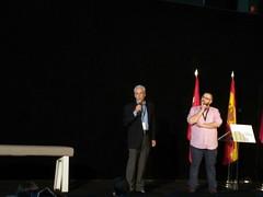 Carlos Totorika y Aitor Oteiza presentan Burulogy en el encuentro celebrado en Madrid.