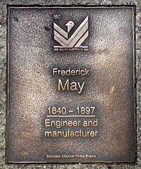 Frederick May plaque on North Terrace Adelaide