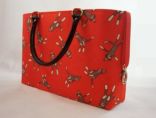 Funky Monkey II Red Handbag