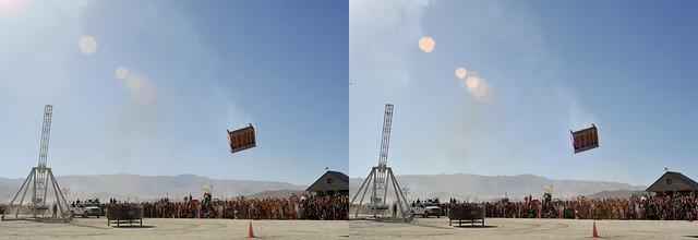 Burning Man 2015- Trebuchet #2 - 3D Cross-View