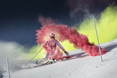 Marcel Hirscher performs during the project 'Marcel Hirscher Colours' at Reiteralm near Schladming, Austria on March 24th, 2015  // Philip Platzer/Red Bull Content Pool // P-20150402-00161 // Usage for editorial use only // Please go to www.redbullcontentpool.com for further information. //