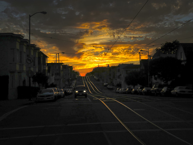 Judah St at Sunset; The Sunset, San Francisco (2015)
