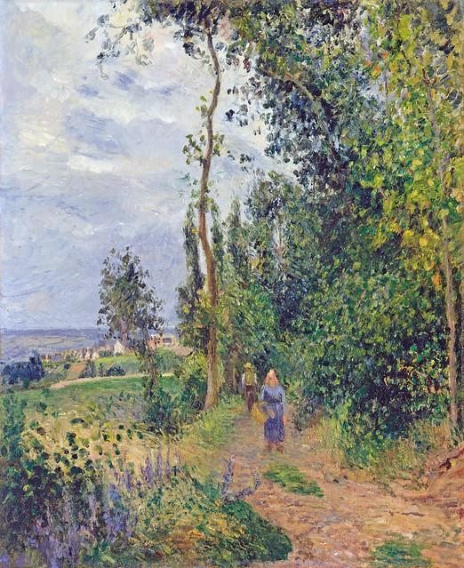 Camille Pissarro - Côte des Grouettes, near Pontoise [1878]