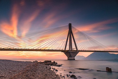 bridge sunset sea sky bw seascape landscape nikon colorful greece nd 20mm christophe grad d800 patra 10stop christopheanagnostopoulos