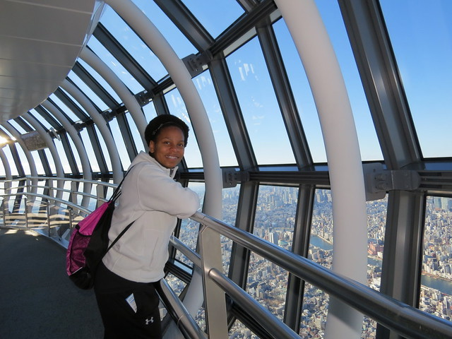 Higest Deck in Skytree: 450m