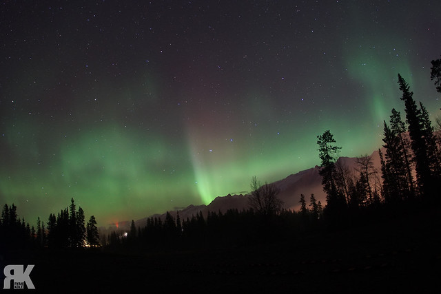 Northern Lights Over Canmore