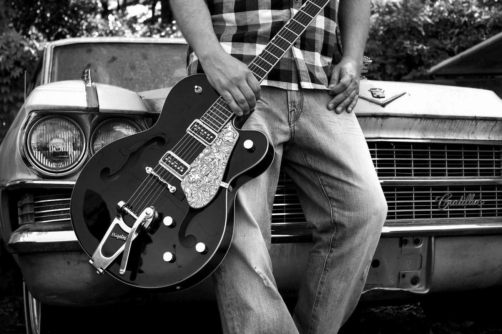black guitar desktop wallpaper