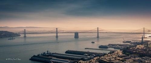 sanfrancisco california morning panorama zeiss sunrise oakland unitedstates baybridge 2015 sonya6000 sonyvariotessare1670mmf4