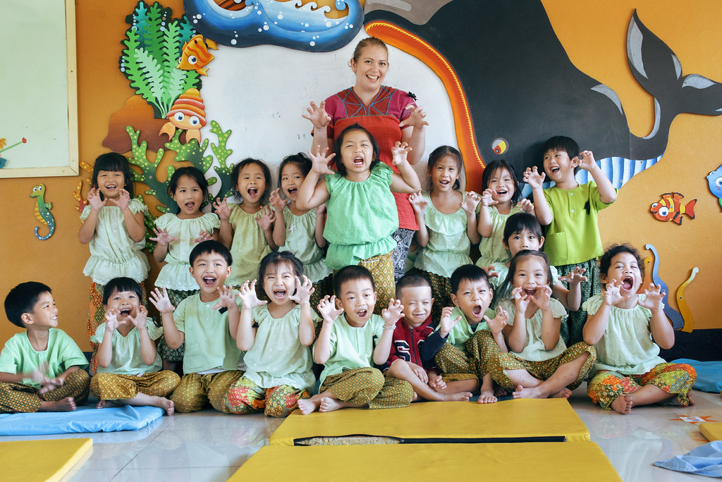 Mary with her class