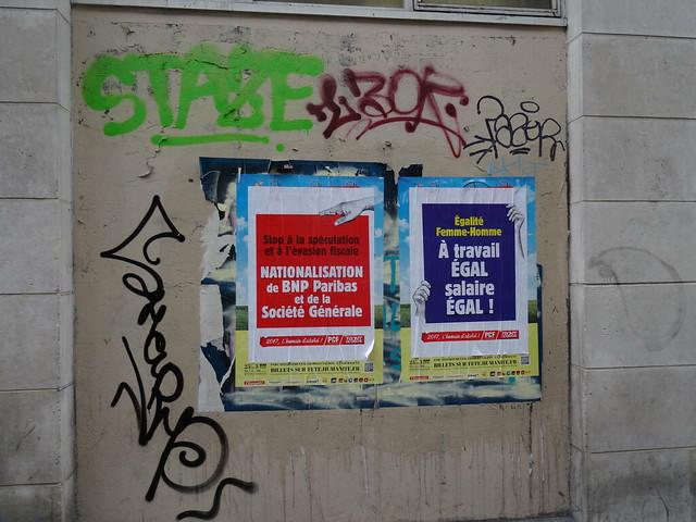 Graffitis & affiches politiques