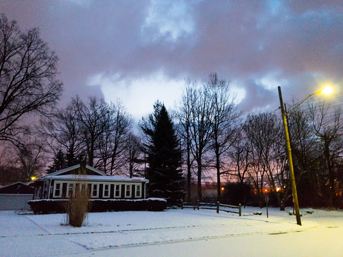 sunrise winter landscape snow bayvillage ohio unitedstates us