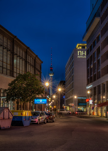 Friedrichstreet to the blue hour