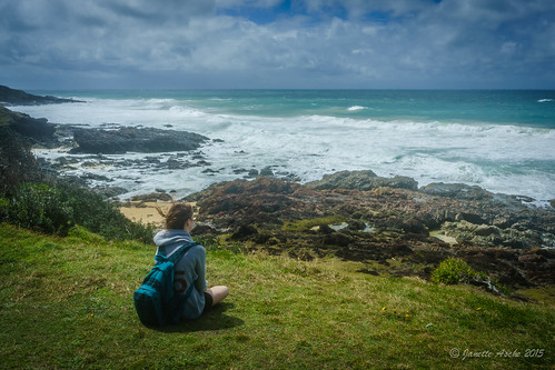 sea beach water coast rocks windy australia coastal bushwalking nsw newsouthwales rough bushwalk 2015 yuraygirnationalpark bushwalker diggerscamp wilsonsheadland sonya7r janetteasche