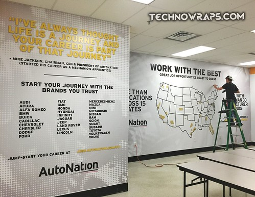 Wall wraps by TechnoSigns in Florida