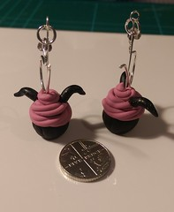 Pastel goth cupcake earrings FloRaeMe (1)
