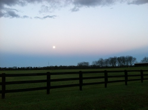 moon sunrise fence virginia farm brandystation