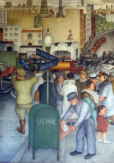 City Life, Coit Tower mural