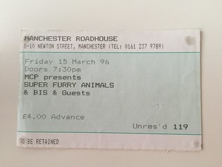 Super Furry Animals + BIS, Manchester Roadhouse, 15/03/96 Support:The Sound Gallery