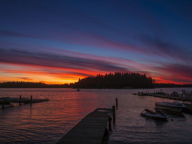 Fire & Color Over American Lake