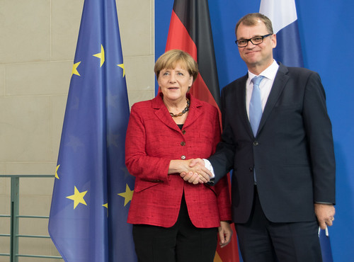 Prime Minister Juha Sipilä meeting with Federal Chancellor Angela Merkel | by FinnishGovernment