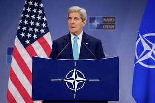 Secretary Kerry Addresses Reporters Following NATO Ministerial in Brussels