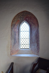 wall paintings: St John the Evangelist and St John the Baptist? (19th Century)