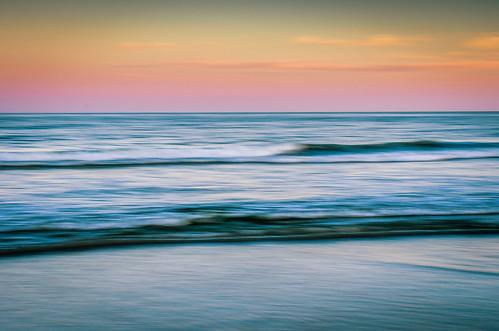 ocean sunset summer blur beach water us newjersey movement sand nikon waves unitedstates shore oceancity atlanticocean ocnj panblur