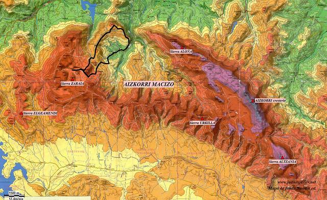 AIZKORRI raizk021 mapa 03 situación NONDIK Aranzadi valles Degurixa y Araotz