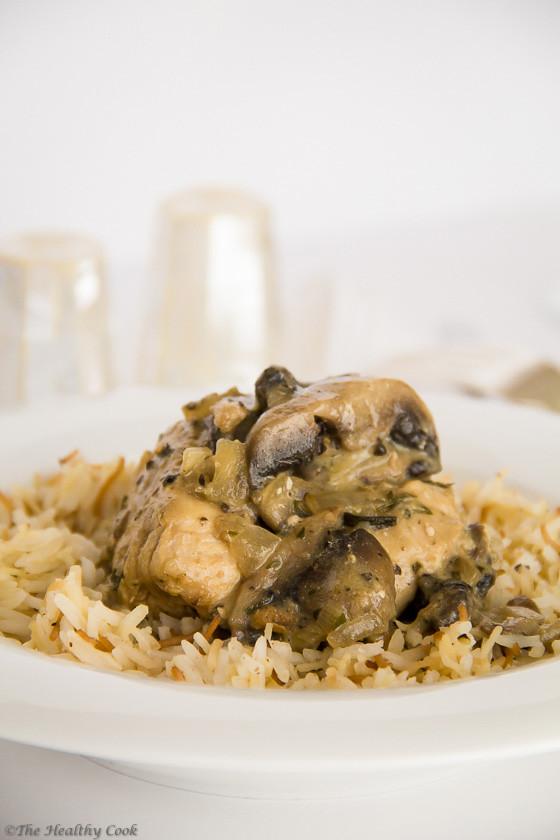 Dijon Chicken with Mushrooms & Tarragon – Κοτόπουλο με Σάλτσα Μουστάρδας, Μανιτάρια & Εστραγκόν