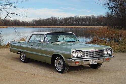 1964 Chevrolet Impala SS (Super Sport) & 2014 Chevrolet Impala LT Photo