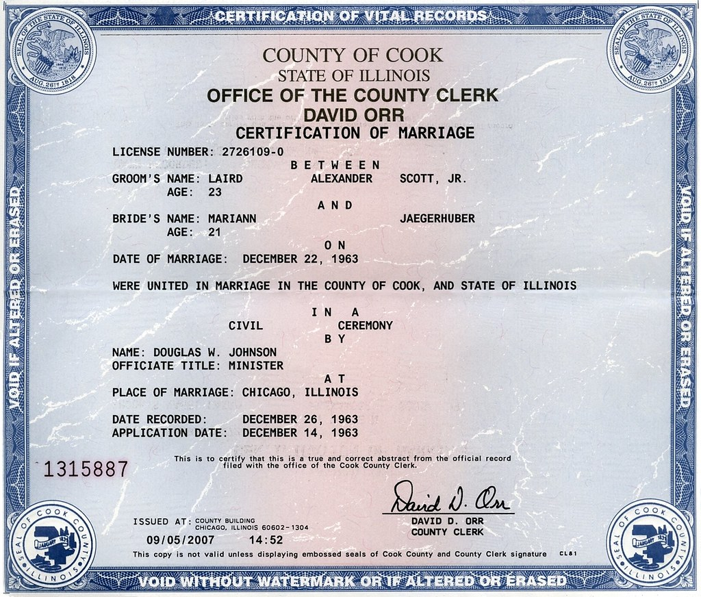 marriage license in cook county illinois