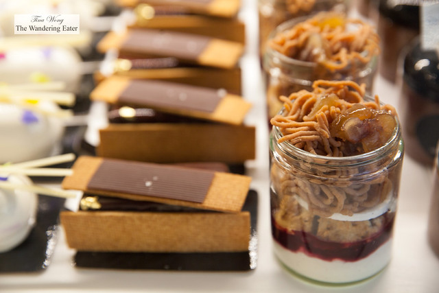 Chocolate tarts and Mont Blanc trifles