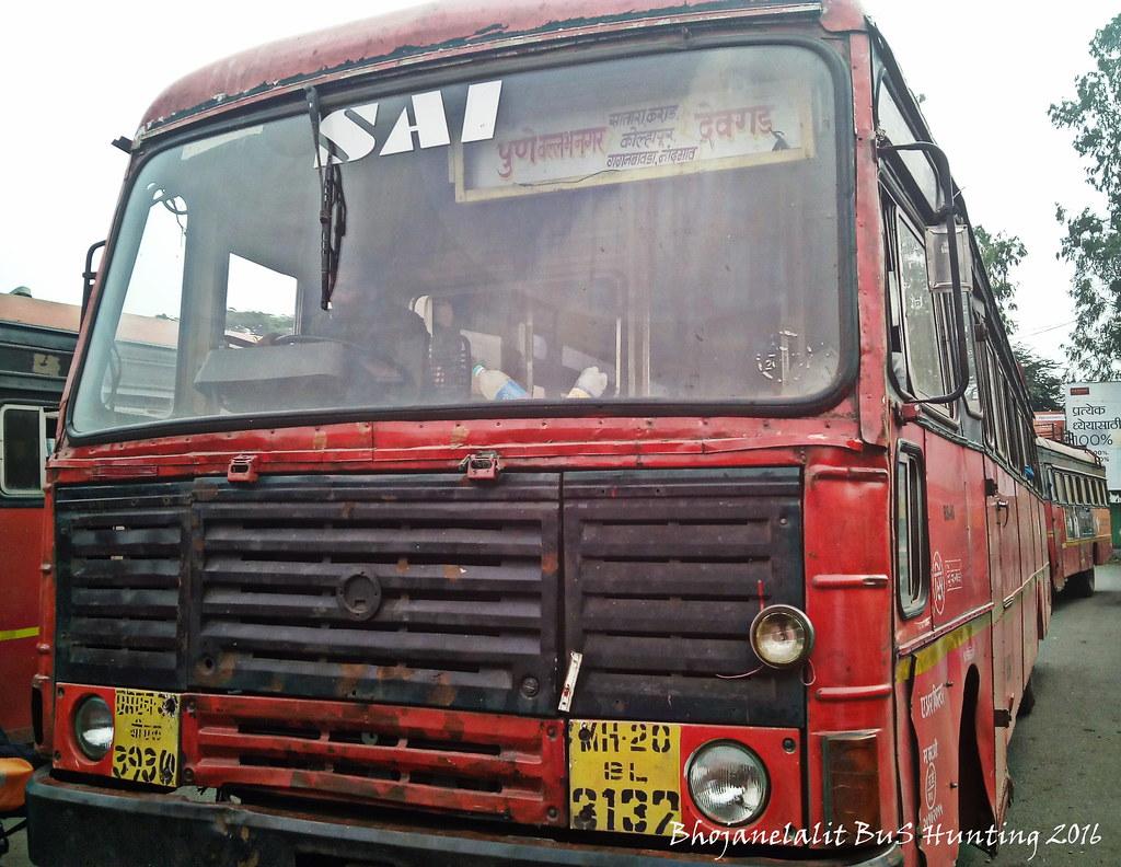 MSRTC Ashok Leyland Bus | Pimprichinchwad -- Devgad | Flickr