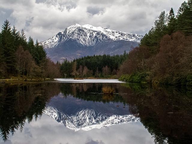 Sgorr a'Choise reflected in Glen Coe lochan