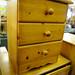 Natural pine 3 drawer locker